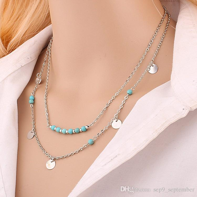 Hot Sale Multi-Layer Choker Statement Chain Necklace Lady Party Dress Charms Infinity Chain Necklace Chokers Necklaces