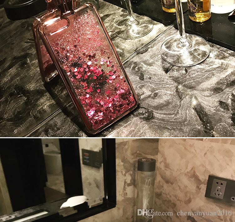 Bonito flare moda areia movediça brilho orelhas de coelho phone case para iphone 6 6s 7 7 8 plus luxo chapeamento case capa