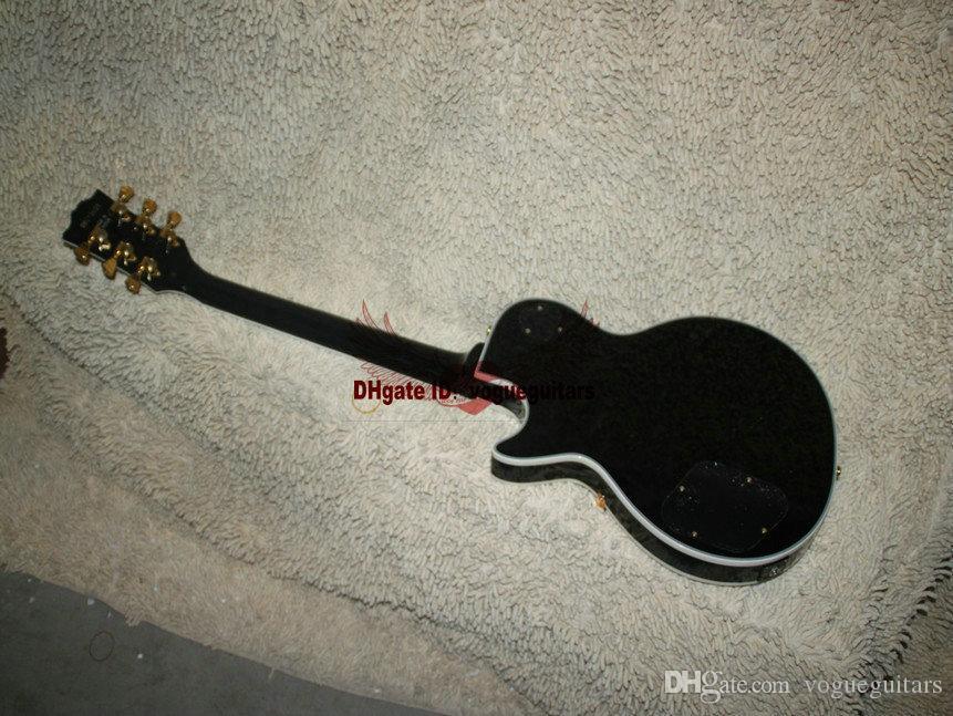 Custom shop 1958 touche ébène guitare électrique en or noir guitare guitare électrique chinoise