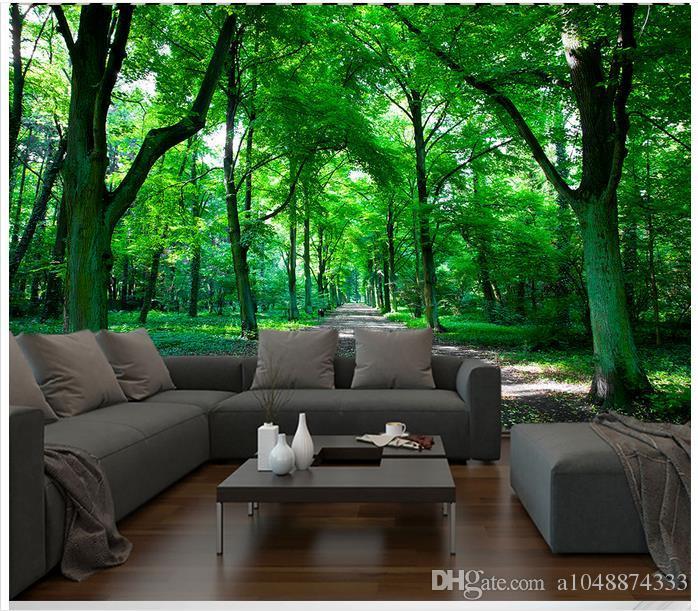 High end Custom 3d photo wallpaper murals wall paper HD green forest 3D living room wallpaper background wall home decor