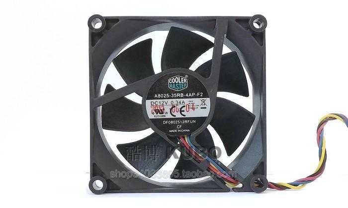 New Original Cooler Master A8025-35RB-4AP-F2 DC12V 0.34A 80*80*25MM 8cm fan 4 line PWM temperature control CPU cooling fan