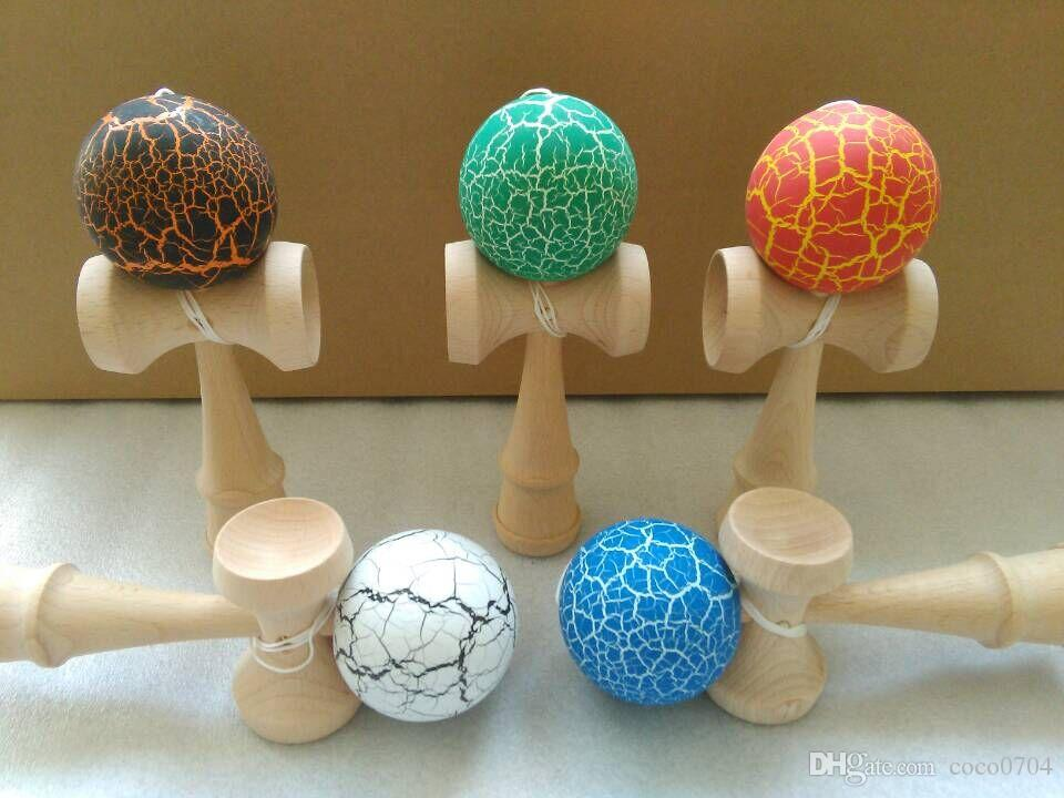 18.5cm jade sword strings professional japan japanese toy crack KENDAMA ball Leisure Sports wooden game toy