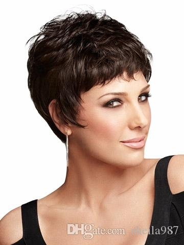 Natural highlights short dark brown wig afro hair puffy straight see larger image pmusecretfo Choice Image