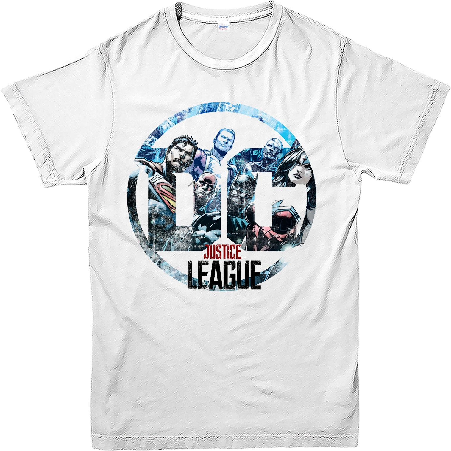 100 cotton brand new t shirts justice league t shirt dc for Dc t shirt design