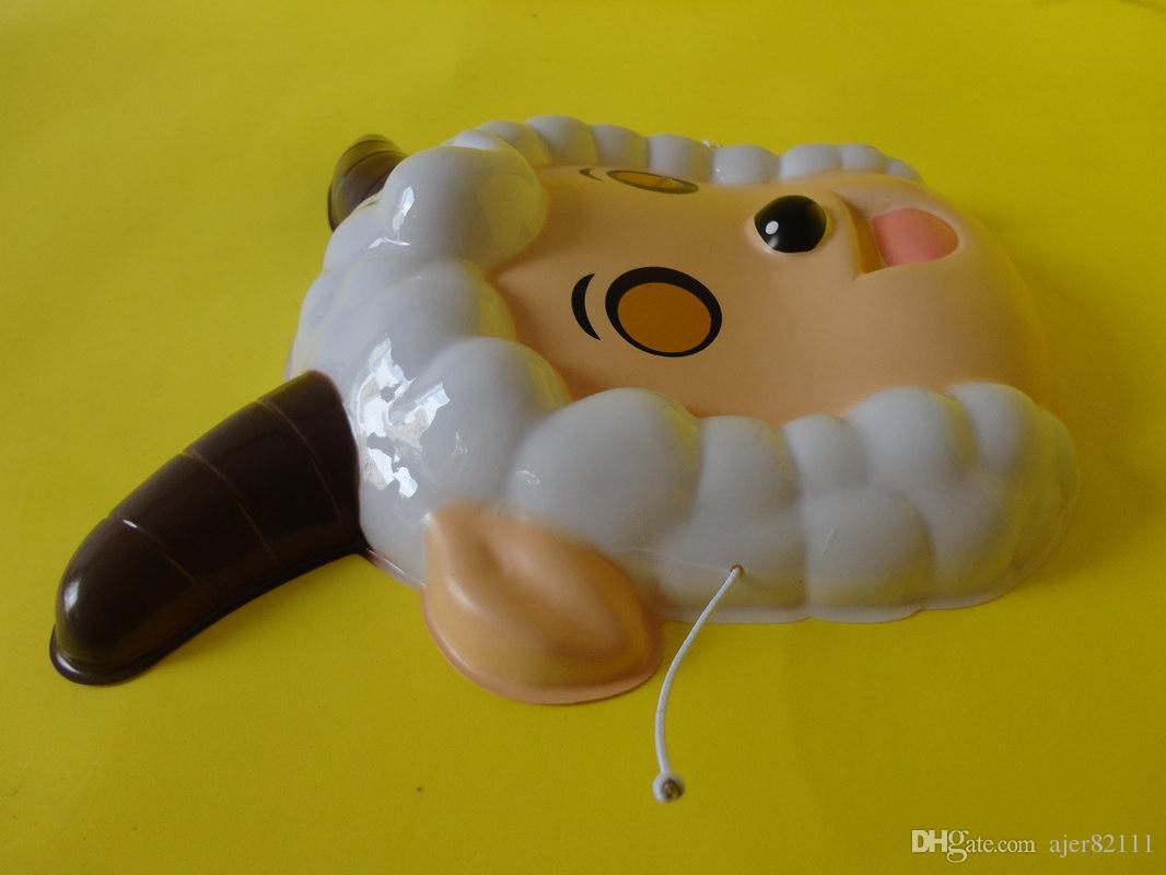 Piacevole maschera giorno radioso bellezza Frankie Lupo danza copricapo dei bambini che svolgono puntelli PVC materiali ecocompatibili