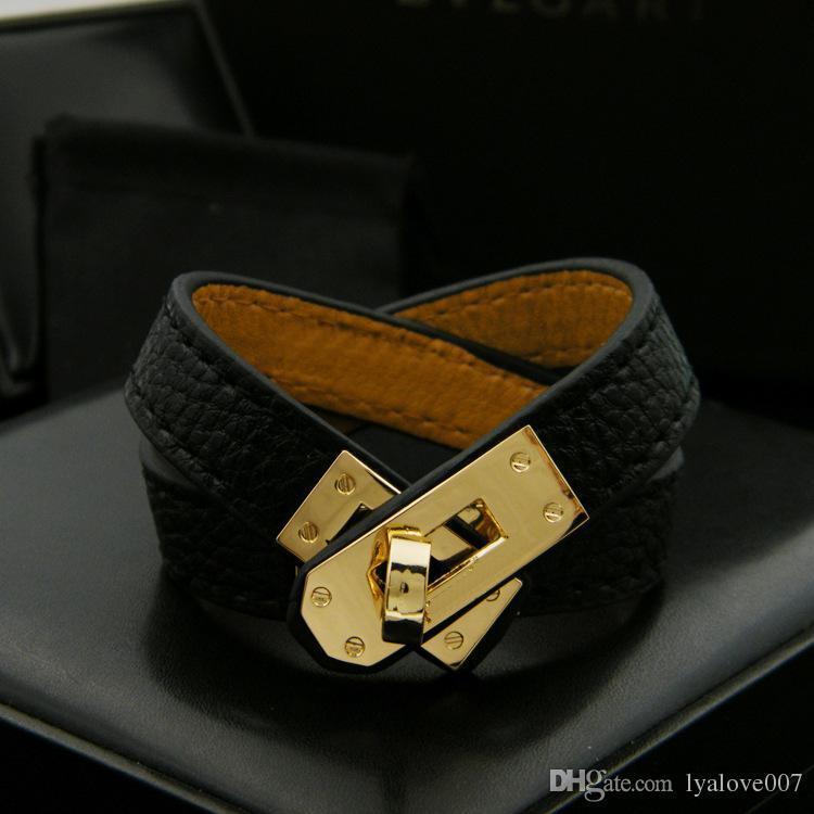 Старинные многослойные искусственная кожа H браслеты для женщин манжеты браслеты мужчины золотая пряжка браслет Pulseras Hombre мужские аксессуары ювелирные изделия