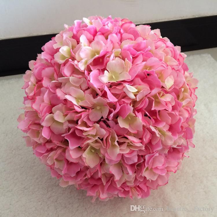 20cm Artificial Silk Hydrangea Flower Balls Wedding Party Pomander ...