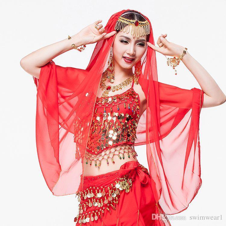 Compre es Danza India Ropa Mujeres De La Cadena Accesorios Velo De ...