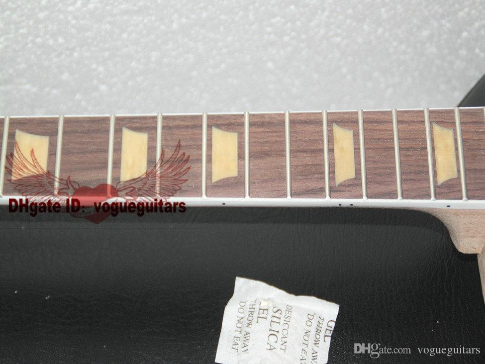 Custom Shop une pièce en acajou avec kit de guitare électrique non fini avec dessus en érable flammé avec matériel