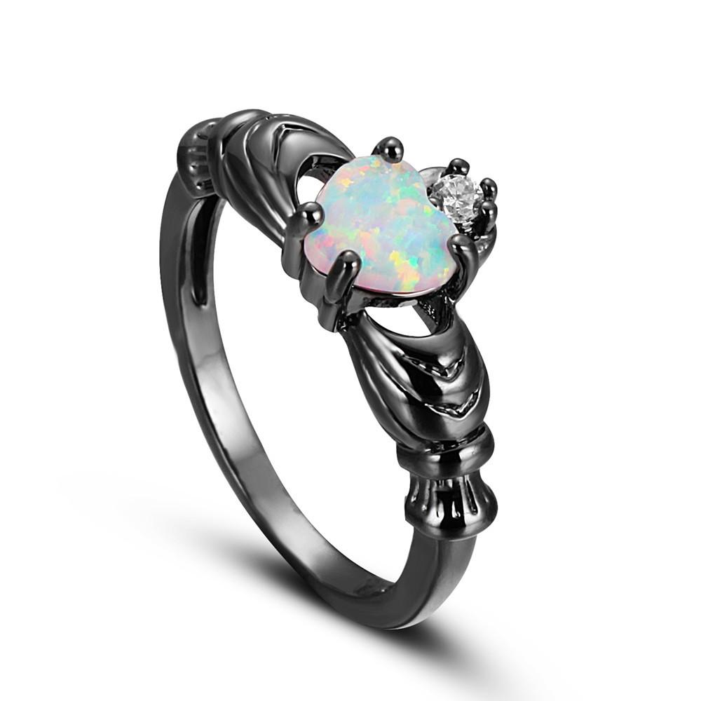 diamond estate opal jewelers platinum products ring black rings