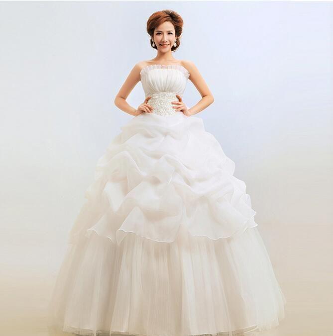 Strapless design sexy indian wedding dresses slimming for Plus size indian wedding dresses