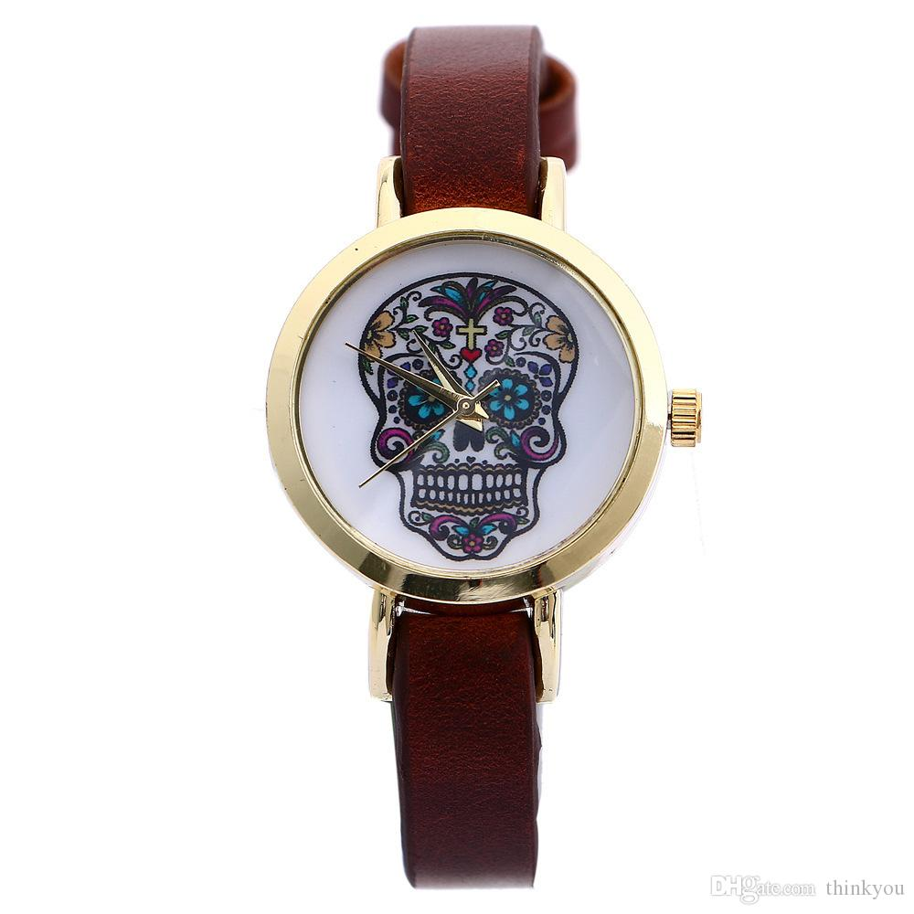 Korean Style Small Womens Watches Leather Band Woman Quartz Casual Watch Analog Lady Watch Round Dial Dress Watch