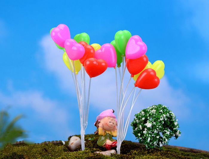 Free shiping Mini balloon fairy garden decorative stuff artificial resin miniatures accessory for fairy garden decor