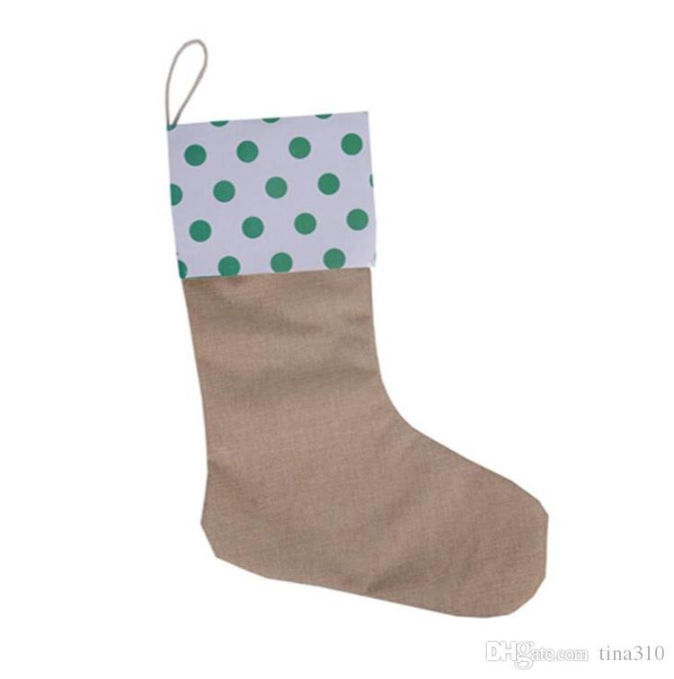 12 * 18 pulgadas Nuevo de alta calidad de lona de Navidad medias de regalo bolsas de Navidad medias de Navidad calcetines decorativos bolsas 4543