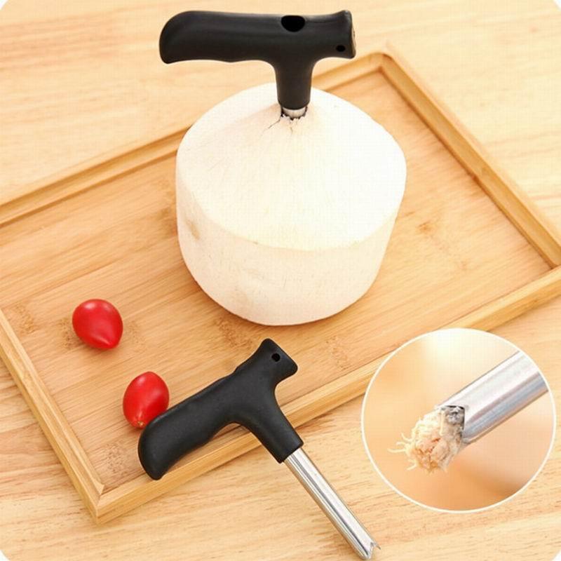 Noix de coco Opener Tap Jeune Driller Coco eau Cocoknife Thai trou de forage Cut Knife outil de nettoyage de bâton