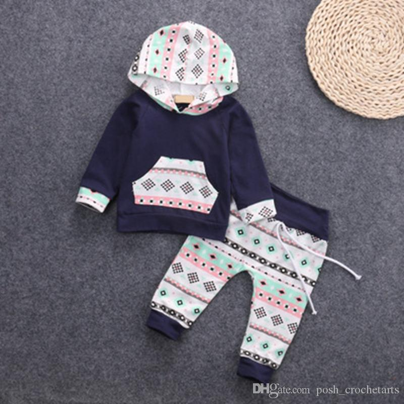 2018 Fashion Baby Outfits Boy Hoodie With Harem Pants Boutique Baby