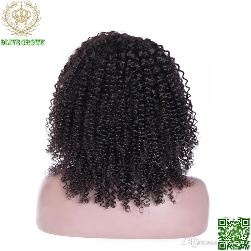 Бразильские волосы афро кудрявый вьющиеся парик Glueless полный кружева парики человеческих волос для черных женщин 6а человеческих волос кружева фронт парик