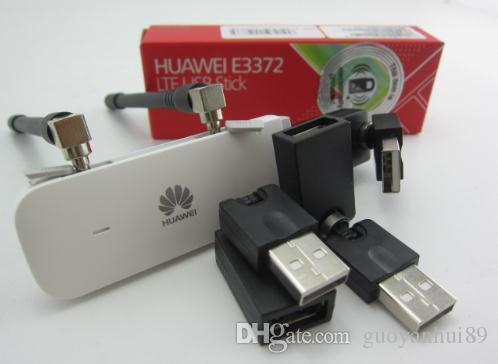 Lot of 1pcs Unlock HUAWEI E3372 E3372h-607 150Mbps 4G LTE USB Modem Dual  Antenna ( plus antenna &usb rotation)