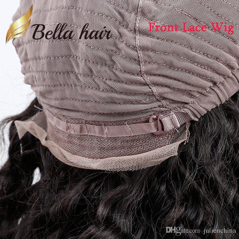 깊은 웨이브 전체 레이스 가발 / 360 가발 / 레이스 프런트 가발 브라질 처녀 머리 가발 곱슬 100 % 인간 벨라 헤어 팩토리 아울렛