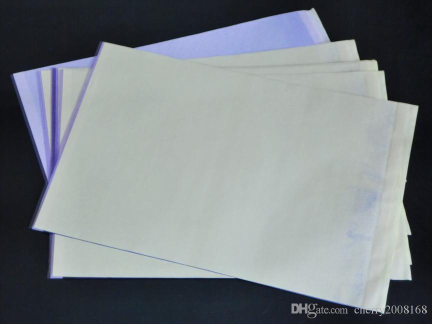 100 stks Groothandel Tattoo Thermal Stencil Transfer Paper Supply Hoge Quliaty voor Tattoo Thermal Copier Parts Supply