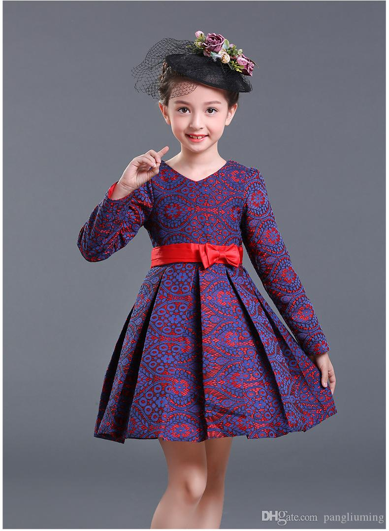 Cloths Design | 2018 New Design Children Winter Dress Kids Clothes Longsleeve Dress