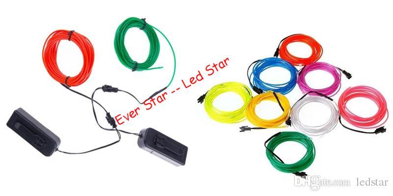 Großhandel 3M flexible LED-Neonlicht-Glühen EL-Drahtseil-Schlauch ...