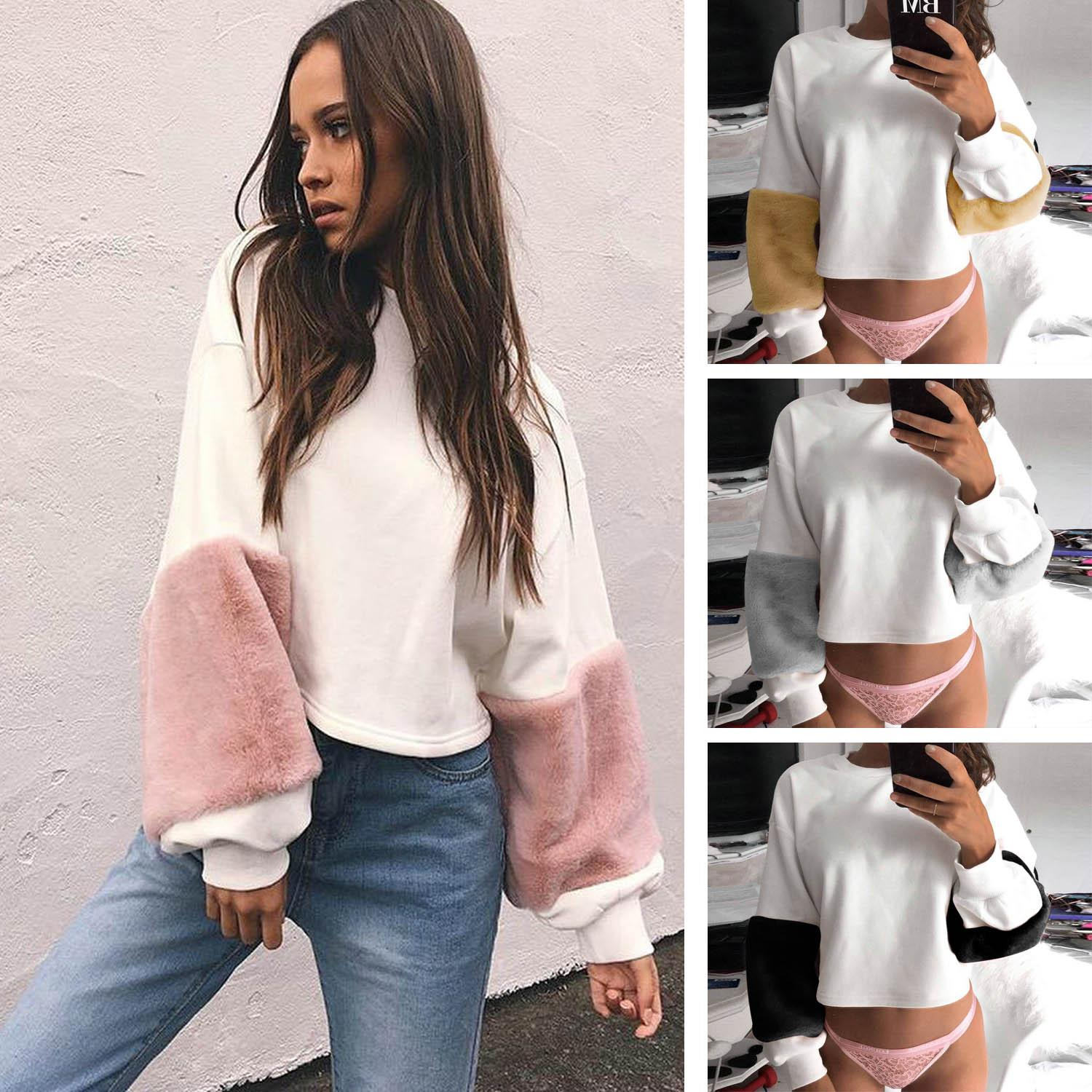 Sweater Cheap From Autumn Female Women Queenweddingdressing Sleeve Long Loose Elegant Outwear Loose Fashion Winter Sweaters Pullovers New Plush 2019 BFxR4R
