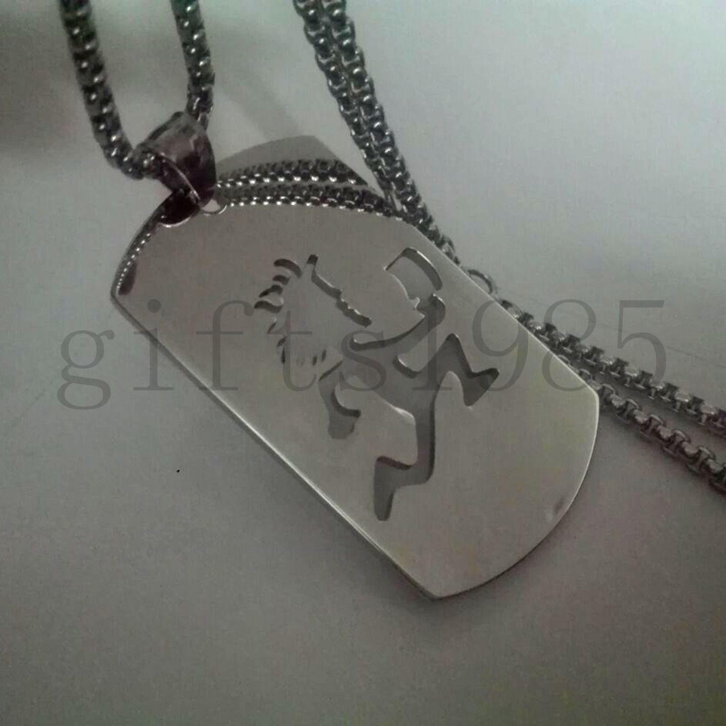 2 en hatchetman ICP peinado cool music charm dog tag colgante / collar de 30 pulgadas