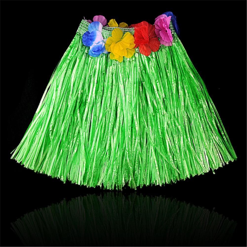 30 CM Havaiano Patry Decorações Crianças Crianças Adulto Hula Show Grama Saia Grinalda Bra Garland Set Praia Dança Vestido ES1087