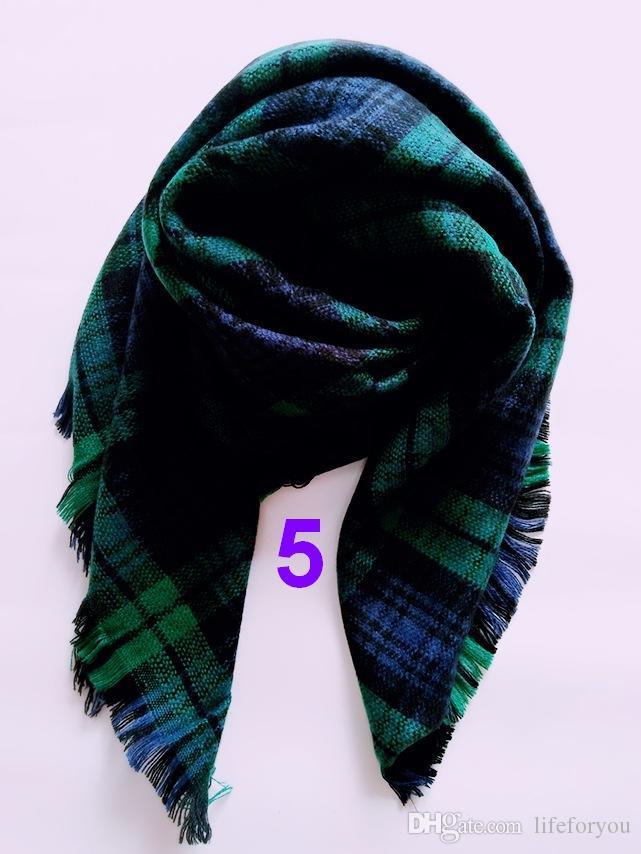 Kechief Kids plaid pashmina cashmere winter scarves fashion wraps soft warm scarf cashmere pashmina casual baby accessories
