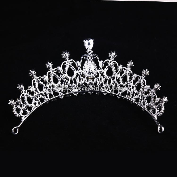 New Arrival Stunning Bridal Crown High Quality Crystal Glass Rhinestone Royal Wedding Headpiece Crowns Tiara Factory Direct Sale Best Price