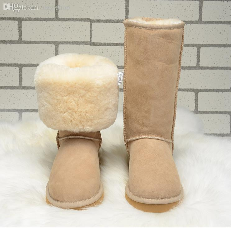 2018 WGG Quality Women Long Snow Boots Genuine Leather Winter Boots Size 5  To Size 13 Pumps Shoes Shoe Boots From Ugg Shop 2f6b5fcb3
