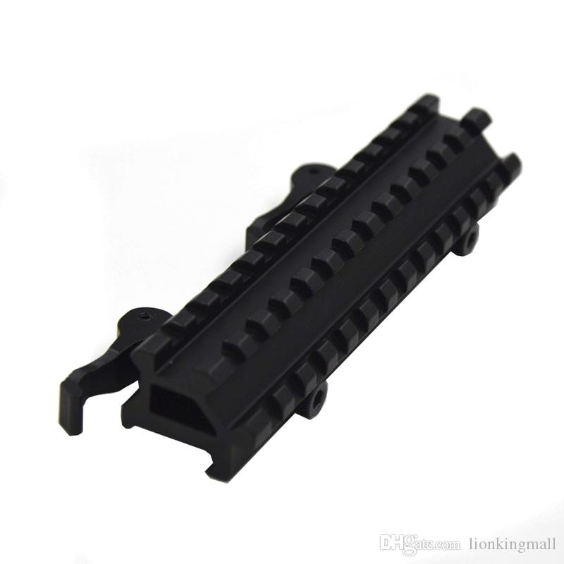 Dovetail extend Weaver 20mm to 20mm Scope bases Mounts 45 degree side 20mm rail mount Quick Release Picatinny Weaver Rail Hunting-D0037