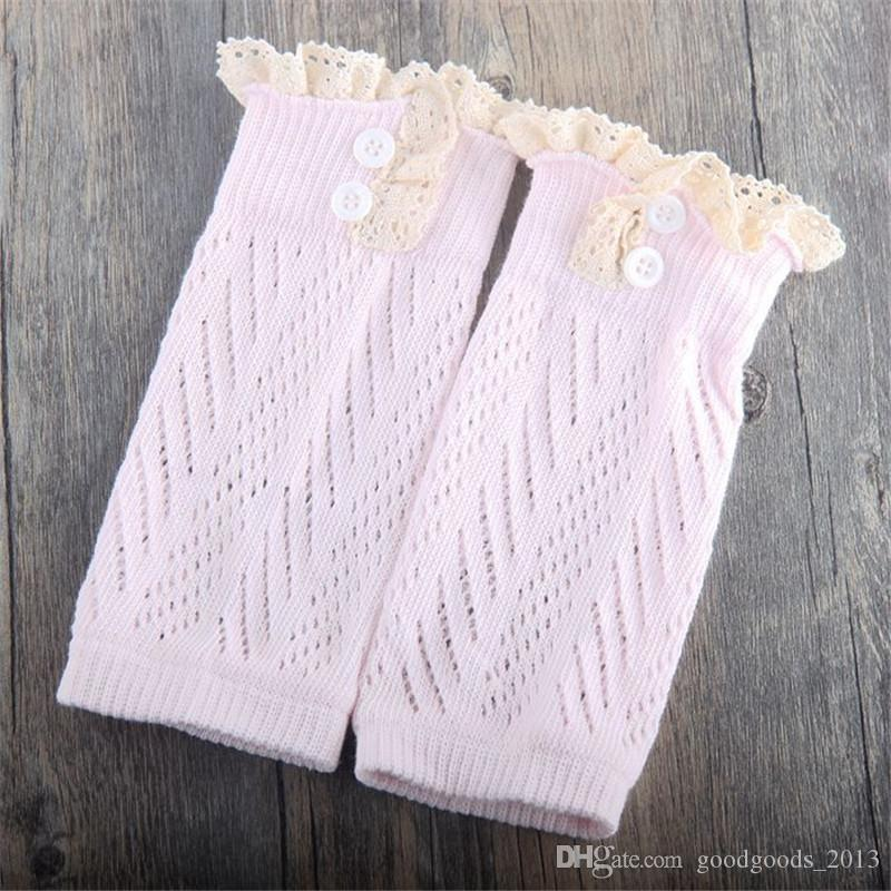 baby Lace button down Leg Warmers Ballet knitted booty Gaiters Boot Cuffs Stocking children Socks Boot Covers Leggings Tight B934