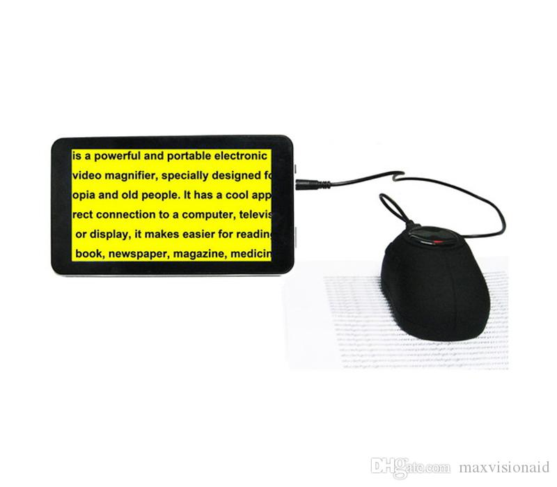 New HD Tablet Screen Magnifier Professional Mobile Screen Magnifier Portable Video Magnifier for Low Vision Reading Aid