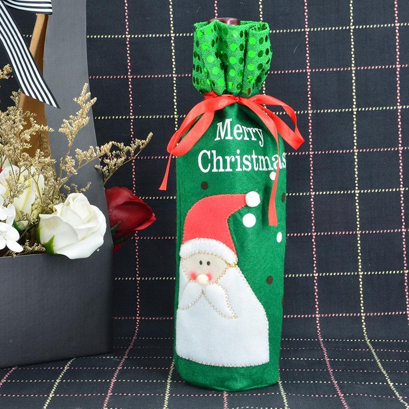 SıCAK Noel Şarap Şişesi Kırmızı Şarap Çantaları Dekorasyon Santa Kardan Adam Tarzı Kırmızı Pretty Kravat Hediye Parti Xmas Bar Için En Iyi Hediye