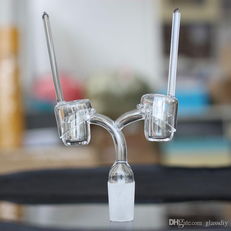 100% Quartz Carb Cap Quartz Domeless nail Dab Rigs Banger Cap For Domeless Quartz Nails with Long Handles for oil rigs water bongs