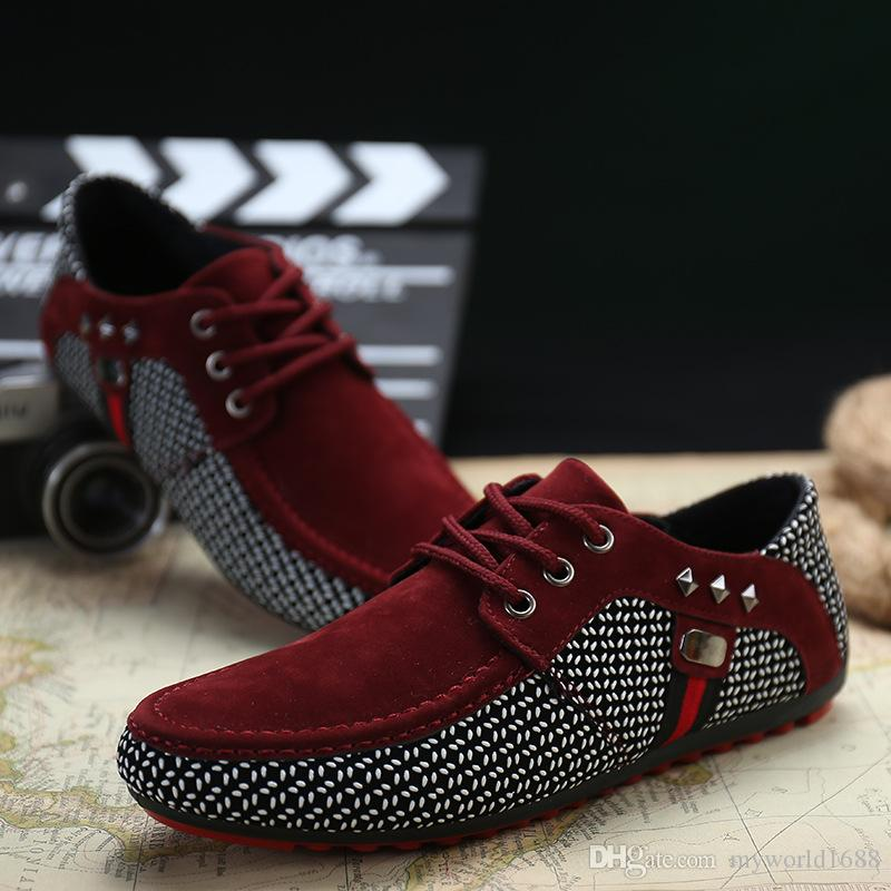 Hot Sale New Fashion Boat Shoes Canvas Mens Comfort Loafer Slip On