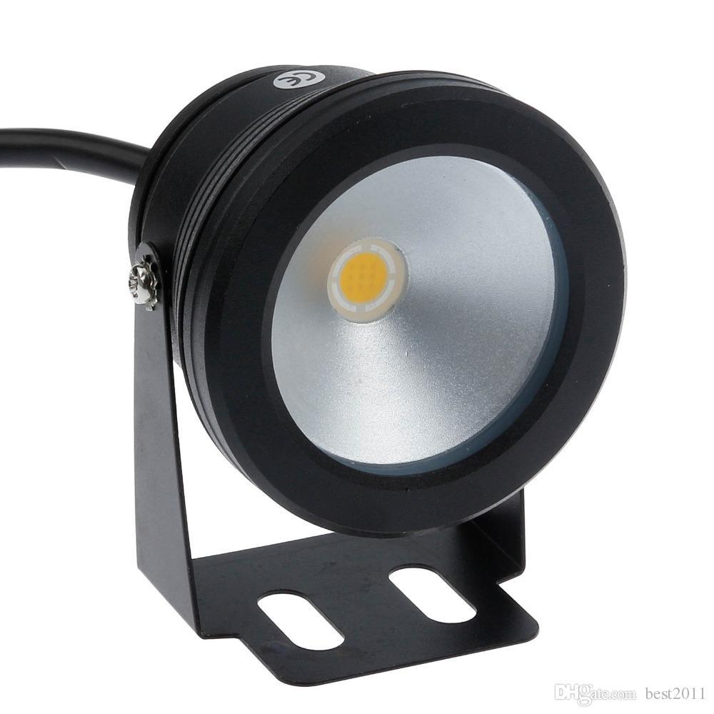 Chaud / Cool Blanc 10W 12V LED Fontaine Sous-Marine Lumière Piscine Étang Étanche Réservoir De Poissons Aquarium LED Lumière Lampe