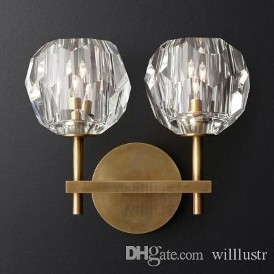 Willlustr BOULE DE CRISTAL SINGLE DOUBLE SCONCE modern wall sconce loft metal lamp America lighting restaurant hotel light cafe porch