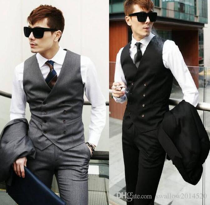 Discount Men'S Clothing British Style Slim Fit Cotton Double ...
