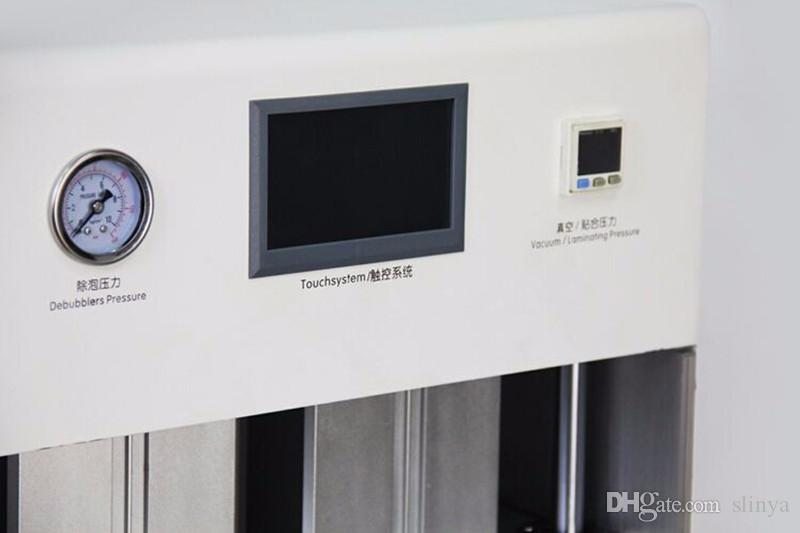 All In One New Design schermo curvo OCA LCD macchina di laminazione Bubble Remover Built-in Vacuum Pump compressore d'aria TBK 708