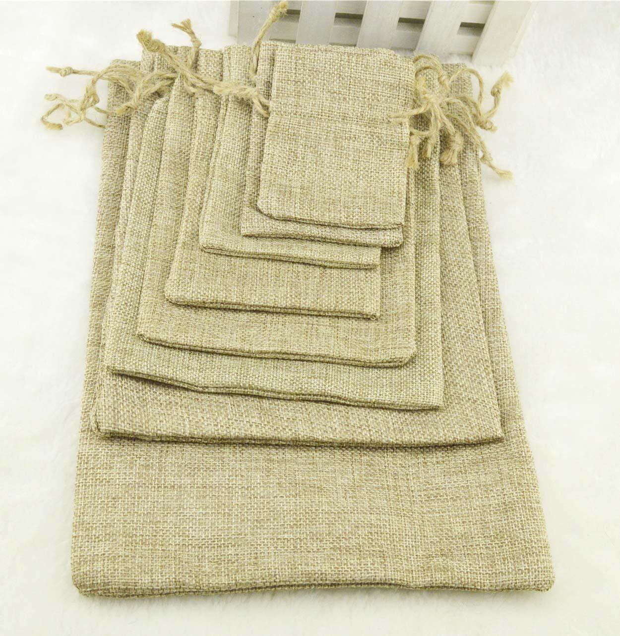 Best Natural Color Jute Burlap Drawstring Bags Gift Coffee Beans ...