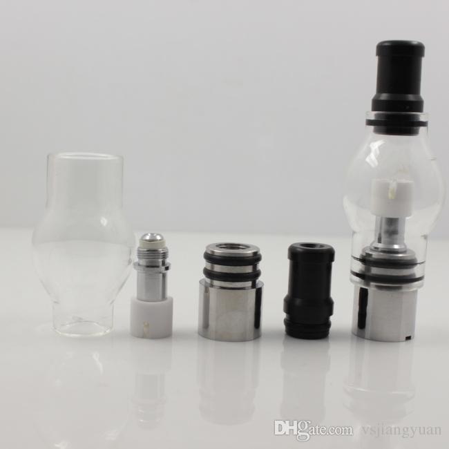 Glass Globe atomizer pyrex glass tank Wax dry herb vaporizer pen vapor cigarettes electronic cigarette glass atomizer glassomizer for ego-t