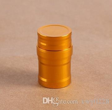 Darmowa wysyłka ----- Lampa alkoholowa Mini ze stali nierdzewnej, nowa metalowa trąbka mini z bawełnianym rdzeniem lampy, kolor losowy