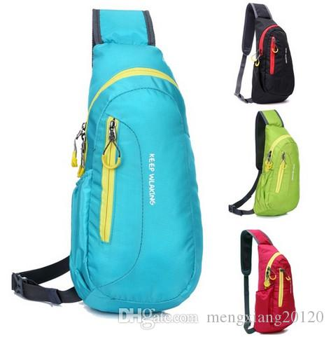 Brand New Unisex Waterproof Nylon Chest Bag Men Women Running Shoulder Bag Diagonal Outdoor Sports Bag sacs de course