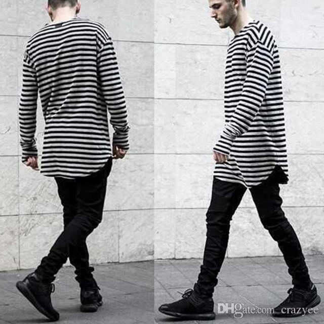 Men T Shirt Long Sleeve Swag Mens T Shirts Fashion 2016 Striped ...