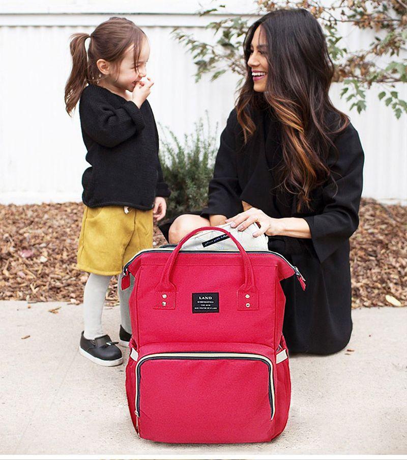 Einzelhandel 14 Farben-Windel-Beutel-Mama Umstands Nappy Beutel-große Kapazität Baby-Spielraum-Rucksack Desiger Nursing Tasche Baby-Pflege für Papa und Mama