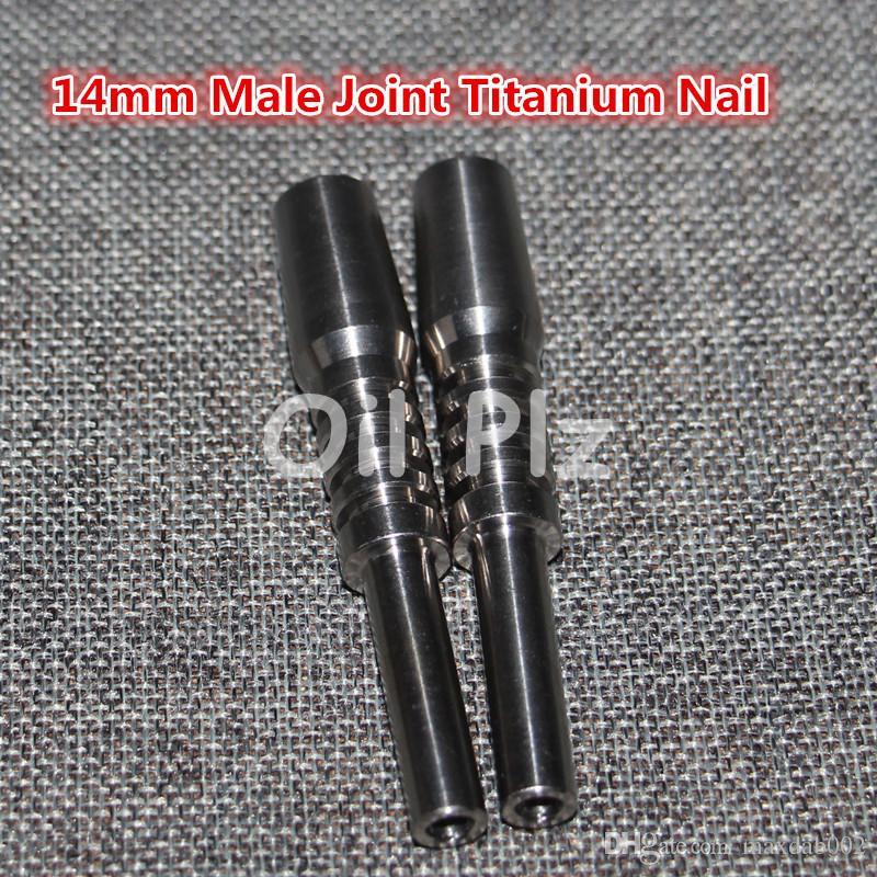 Chiodo universale in titanio 14mm maschio chiodi in titanio Raccordo maschio regolabile con tappo in carbone un tubo di vetro