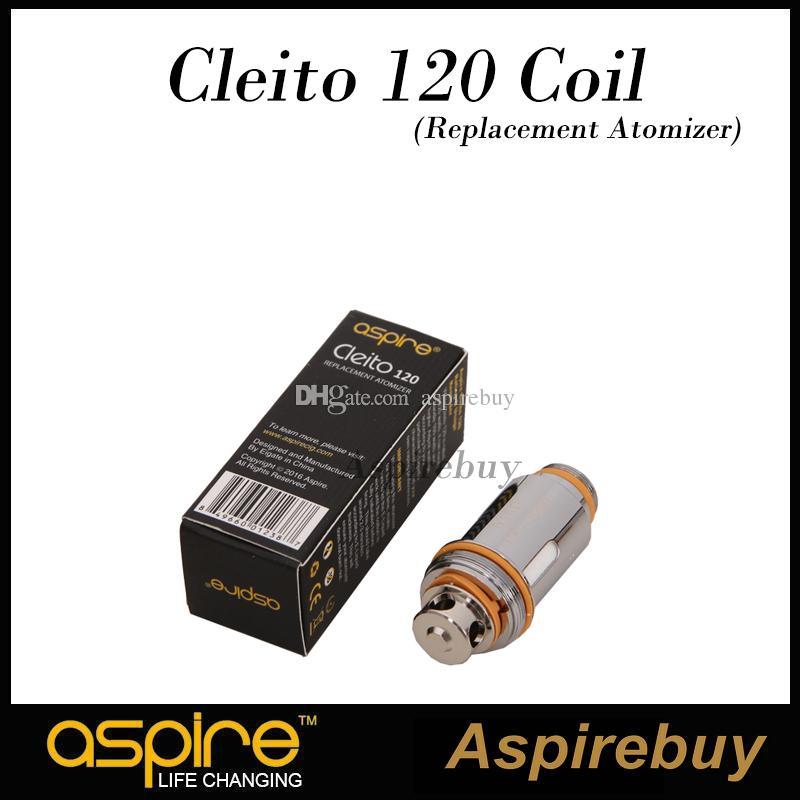 Aspire Cleito 120 tête 1.6ohm pour réservoir Aspire Cleito 120 Aspire EXO 0.16ohm bobines pour tête de rechange pour réservoir EXO 100% d'origine
